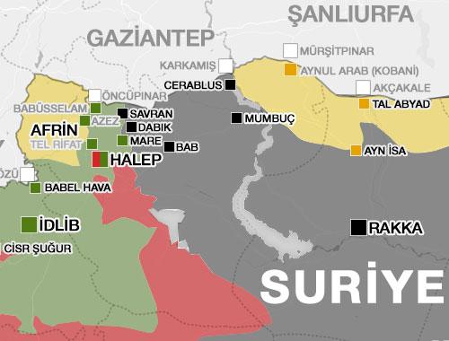 Suriye savaş haritası tam bir felaket