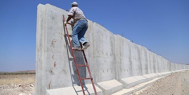 Suriye sınırına 7 tonluk devasa duvar örülüyor