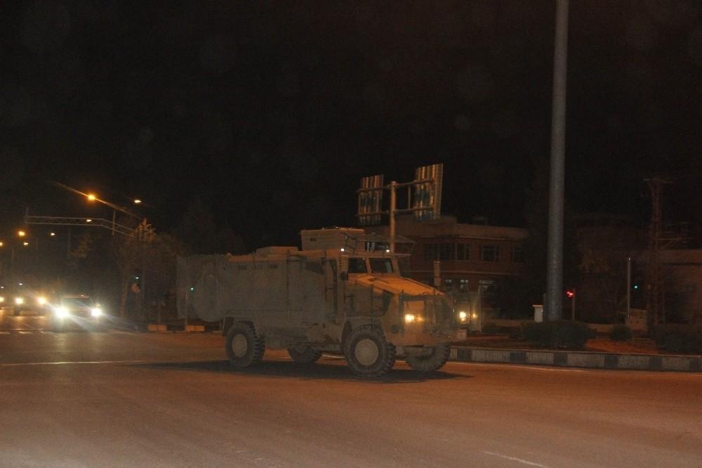 Suriye sınırına askeri araç takviyesi