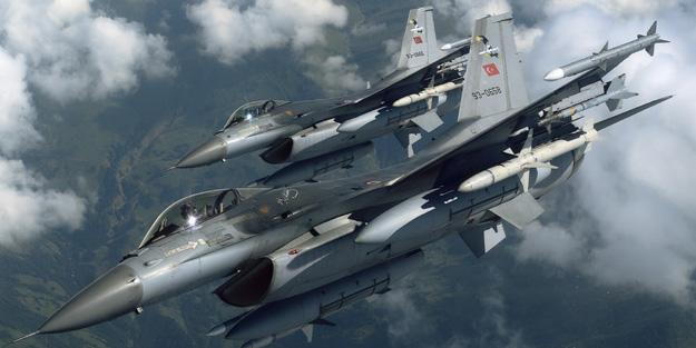 Suriye sınırında altı F-16 uçağı devriye uçuşu yaptı