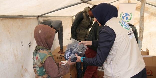 Suriye'de 5 bin 850 çocuk artık üşümeyecek!