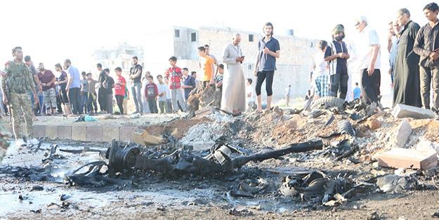 Suriye'de patlama! Yaralı siviller var