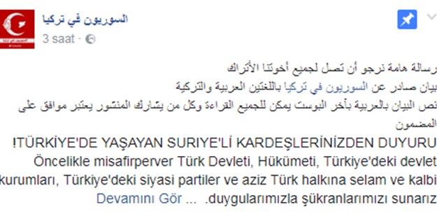 Suriyeli muhacirlerden Türklere mesaj var