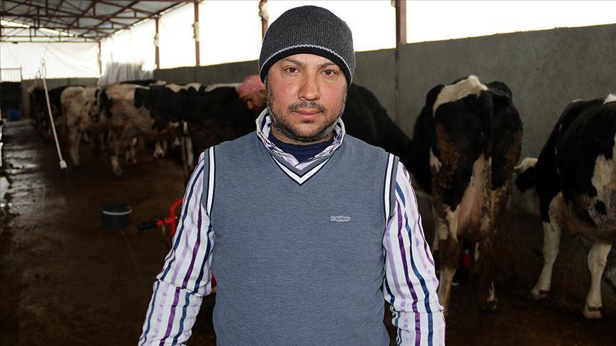 Suriyeli veteriner Şanlıurfa'da süt üreticisi oldu