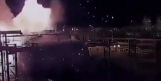 Suudi Arabistan petrol tesisine saldırının görüntüleri yayınlandı