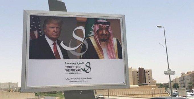 Suudi Arabistan'dan ziyaret öncesi afişli mesaj