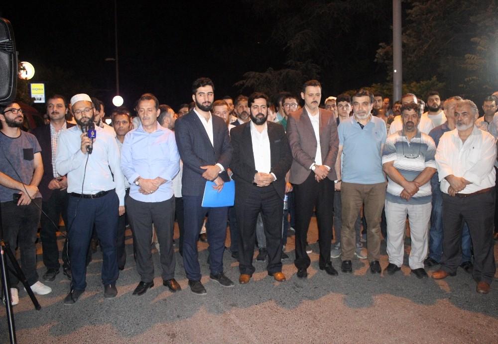 Suudi Arabistan'nın idam kararları konsolosluk önünde protesto edildi