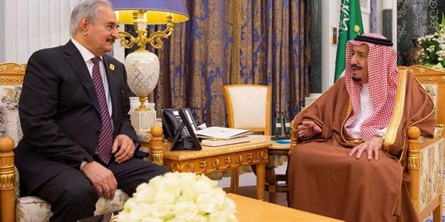 Suudi yönetiminden darbeci Hafter'e tam destek!