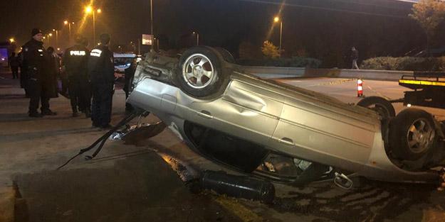 Takla atan otomobilden fırlayan sürücü olay yerinde can verdi