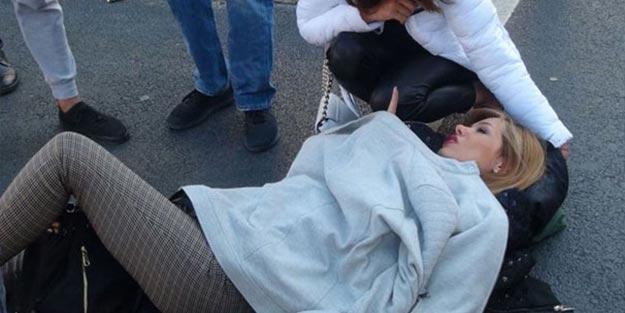 Taksim'de korkutucu kaza! Eşi bu halde görünce fenalaştı
