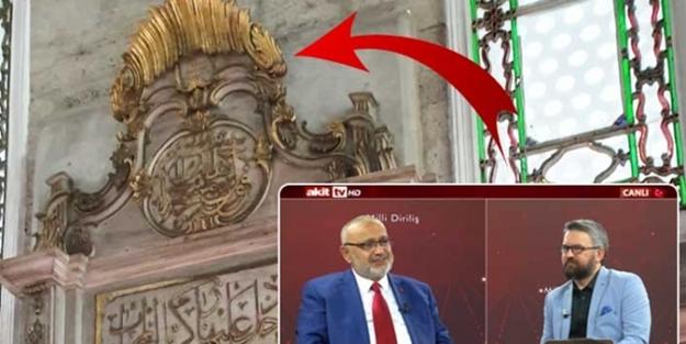Tarihi caminin mihrabında skandal suret! Şevki Yılmaz 'Şoke oldum' dedi ve açıkladı