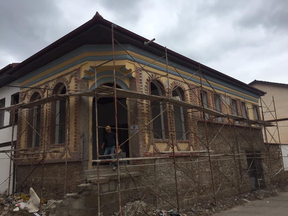 Tarihi Lefke Çarşısının restorasyonu devam ediyor
