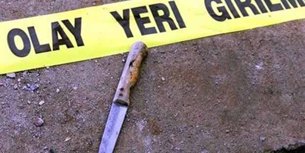 Tartıştığı kocasını bıçak ve satırla öldürdü