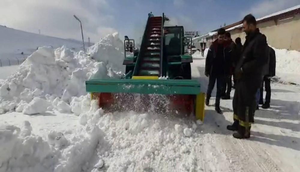 Tatvanlı girişimciden yüzde 80'i yerli ve milli kar küreme aracı