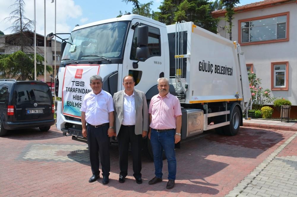 TBB'den Gülüç Belediyesi'ne çöp aracı hibe edildi