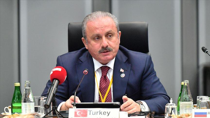 TBMM Başkanı Mustafa Şentop G20 Parlamento Başkanları Zirvesi açılışına katıldı