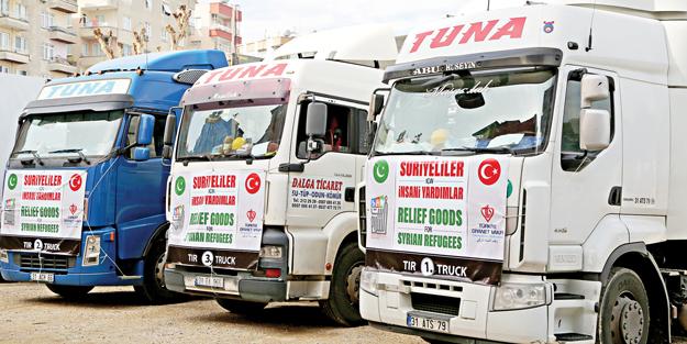 TDV'nin yardım konvoyu Suriye'de