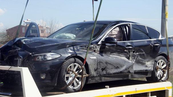 Tekirdağ-Çorlu yolunda AK Partili başkan ölümden döndü