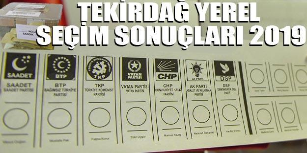 Tekirdağ yerel seçim sonuçları 2019 | Tekirdağ ilçeleri yerel seçim sonuçları Cumhur İttifakı Millet İttifakı oy oranları