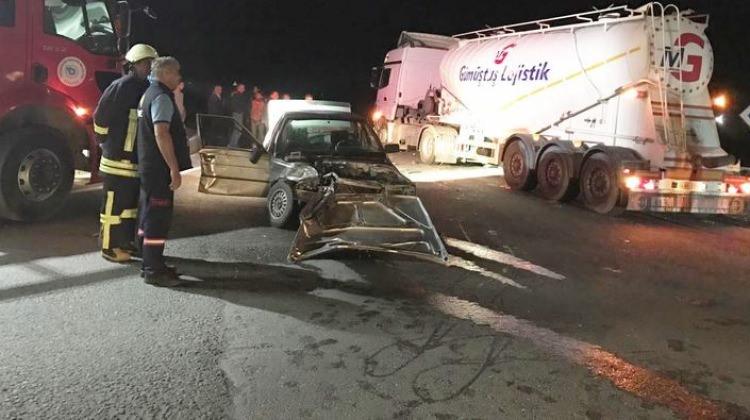 Tekirdağ'da feci kaza: 1 kişi ağır yaralı
