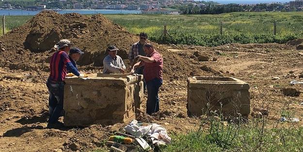 Tekirdağ'da Roma dönemine ait iki lahit bulundu