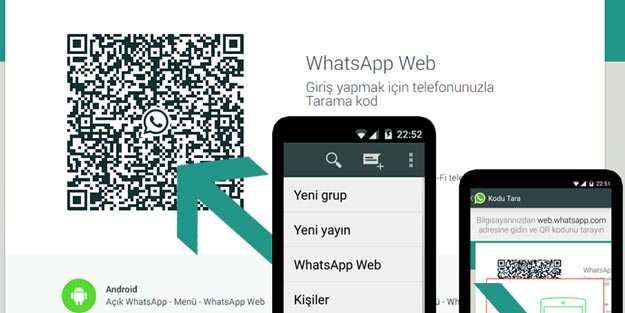 Telefondan Whatsapp Web Qr Koduna Nasil Girilir