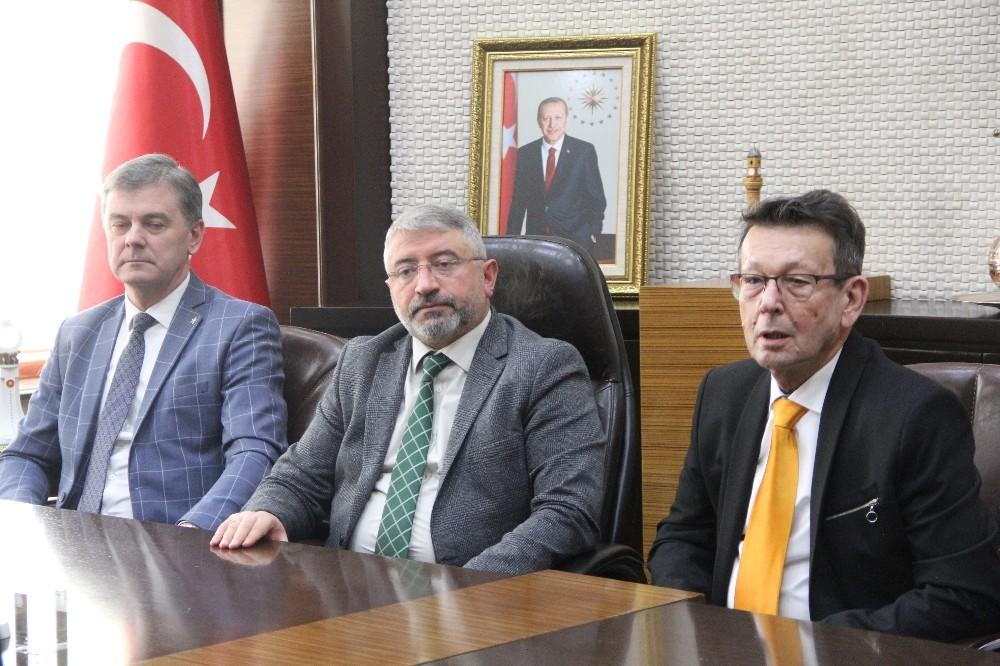 Telsiai ve Szarvas Belediye Başkanları'ndan Aşgın'a ziyaret