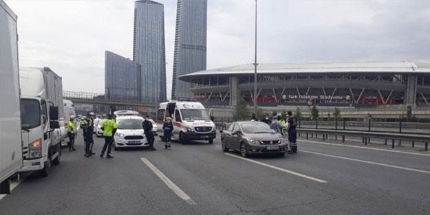 TEM'de aşırı hız kaza getirdi! Kadın sürücü engelli aracına çarptı