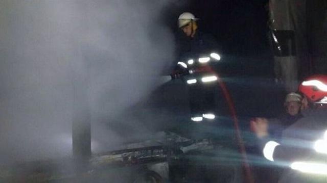 TEM Otoyolu'nda yangın trafiği zora soktu