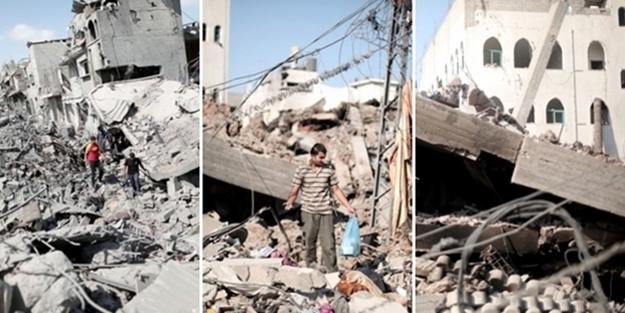 Terör devleti İsrail Gazze'yi bu hale getirdi