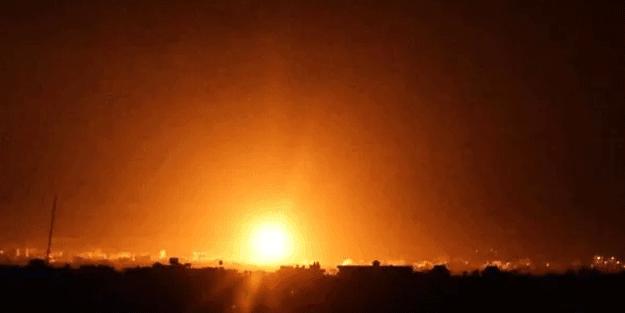 Terör devleti İsrail'den Gazze'ye saldırı!