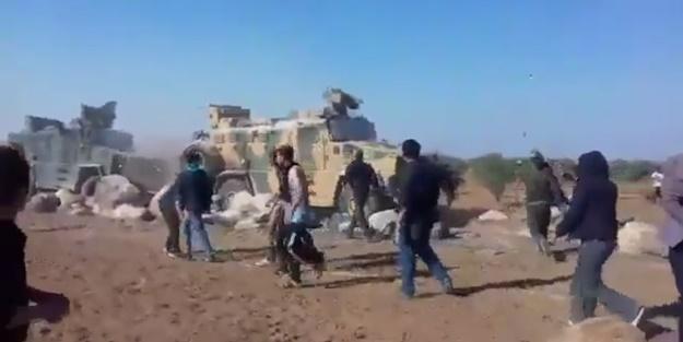 Terör örgütü PKK/YPG yandaşları Türk askerine saldırdı