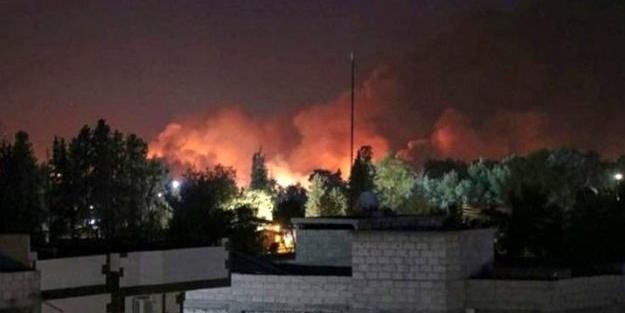 Terör örgütü PKK/YPG'ye ait silah deposunda art arda patlamalar!