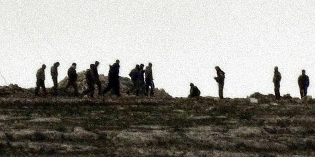 Terör örgütü YPG/PKK, Türkiye sınırı yakınında tünel kazmaya devam ediyor