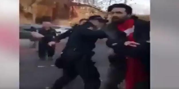 Terör yandaşları Türk gencine kemerle saldırdı