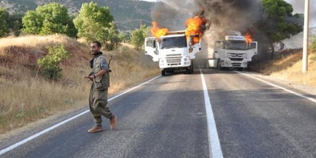 Teröristler 3 aracı böyle yaktı