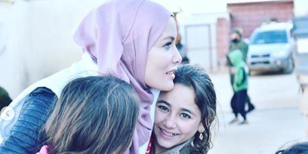 Tesettüre giren Gamze Özçelik, yardım için İdlib'e gitti... 'Kapanmak farz, Allah'ın emri' demişti