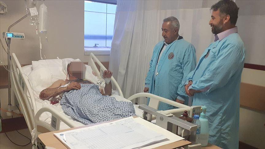 Teslim olan örgüt mensubu tedavi gördüğü hastanede babasıyla buluştu