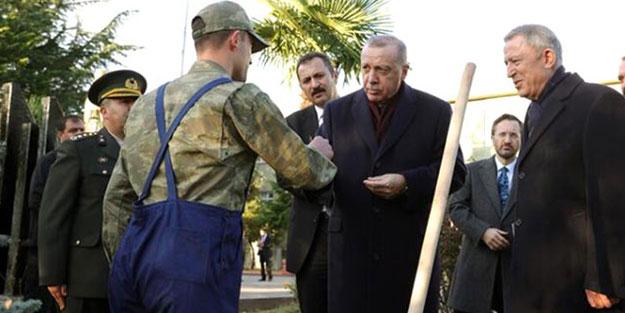 Tezkeresine 10 gün kalan askere Erdoğan'dan hediye