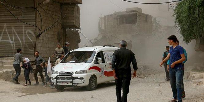 Suriye'de Doğu Guta'ya saldırılar sürüyor