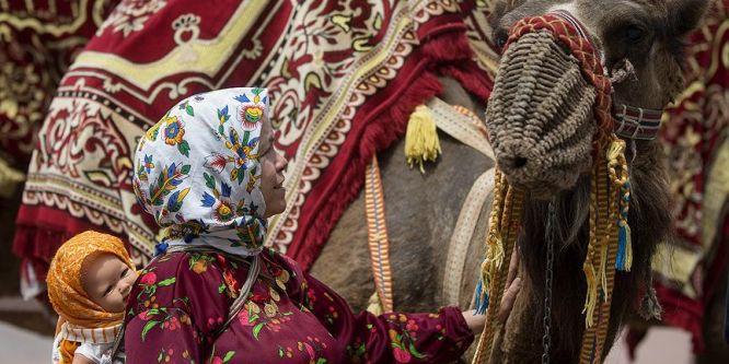 7. Yörük Türkmen Şöleni temsili yörük göçüyle başladı