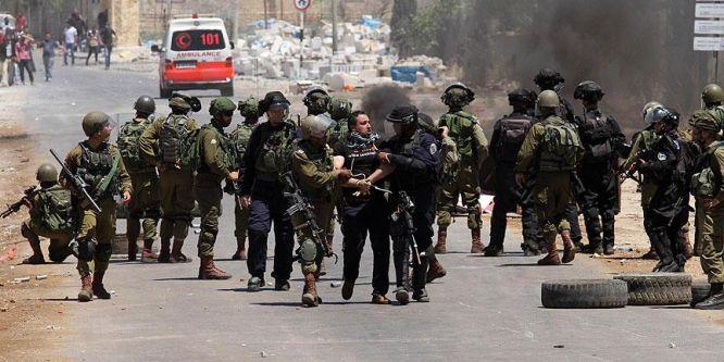 Filistinli tutuklulara destek gösterisine işgalcilerden müdahale