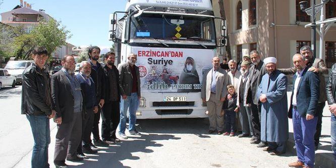 Erzincan'dan İdlib'e 22 ton insani yardım