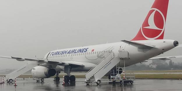 THY uçuşuna 'olumsuz hava' engeli
