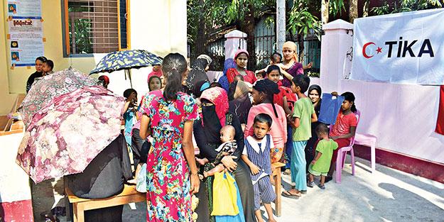 TİKA'nın sağlık kliniği Arakan'da hizmete başladı