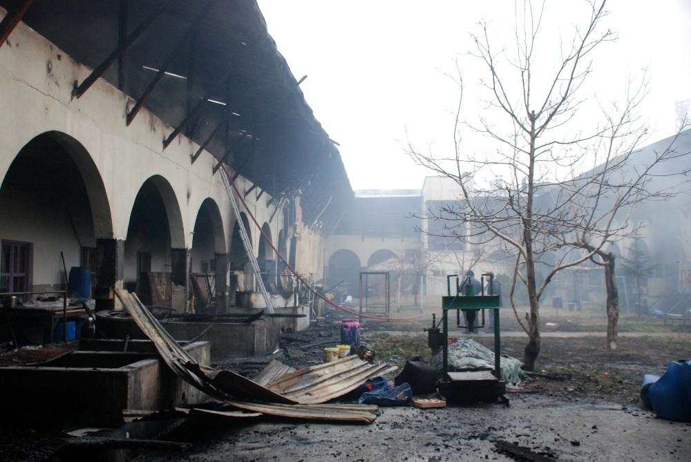 Tokat Yazmacılar Sitesi'ndeki yangın söndürüldü