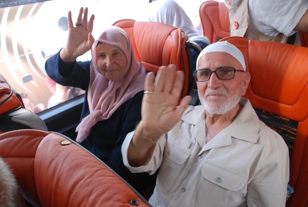 Tokat'ta hacı adayları kutsal topraklara uğurlandı