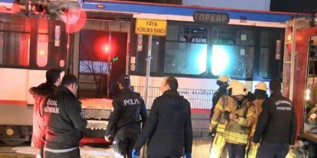 Topkapı- Mescid-i Selam Tramvayı'nda yangın çıktı
