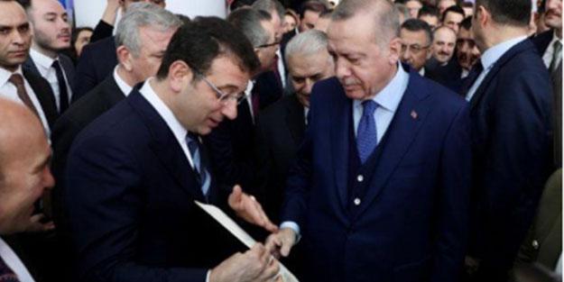 Toplantı öncesi ilginç anlar! Ekrem İmamoğlu Erdoğan'a o zarfı verdi