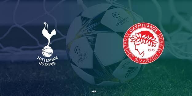 Tottenham Olympiakos maçı ne zaman saat kaçta hangi kanalda? Şampiyonlar Ligi 5. hafta